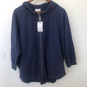 NWT Lucky Brand cotton blend hoodie in navy